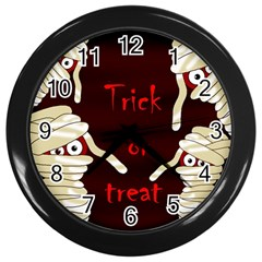 Halloween mummy Wall Clocks (Black)