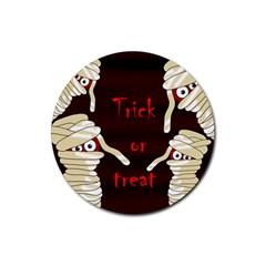 Halloween mummy Rubber Coaster (Round)
