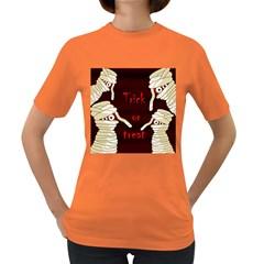 Halloween mummy Women s Dark T-Shirt
