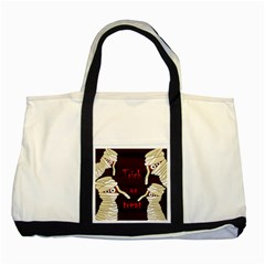 Halloween mummy Two Tone Tote Bag