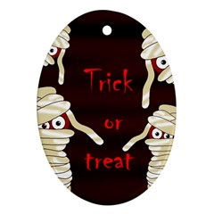 Halloween mummy Oval Ornament (Two Sides)