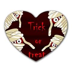 Halloween mummy Heart Mousepads