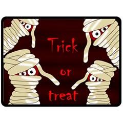 Halloween mummy Fleece Blanket (Large)