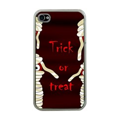 Halloween mummy Apple iPhone 4 Case (Clear)