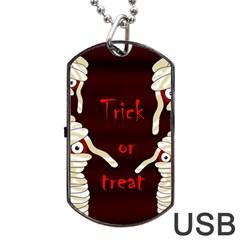 Halloween mummy Dog Tag USB Flash (One Side)