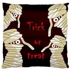 Halloween mummy Large Flano Cushion Case (One Side)