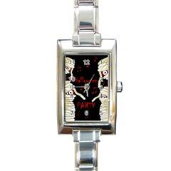 Halloween mummy party Rectangle Italian Charm Watch