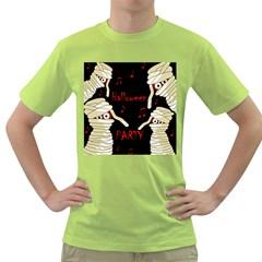 Halloween mummy party Green T-Shirt