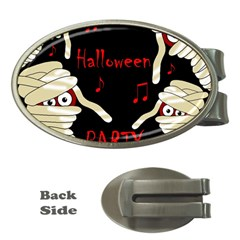 Halloween mummy party Money Clips (Oval)