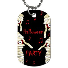 Halloween mummy party Dog Tag (Two Sides)