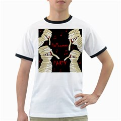 Halloween mummy party Ringer T-Shirts