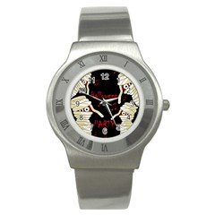 Halloween mummy party Stainless Steel Watch