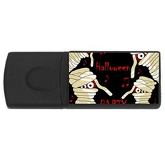 Halloween mummy party USB Flash Drive Rectangular (4 GB)