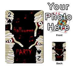 Halloween mummy party Playing Cards 54 Designs