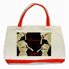 Halloween mummy party Classic Tote Bag (Red)