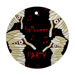 Halloween mummy party Round Ornament (Two Sides)