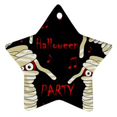 Halloween mummy party Star Ornament (Two Sides)