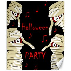 Halloween mummy party Canvas 8  x 10