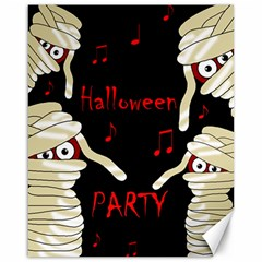 Halloween mummy party Canvas 16  x 20