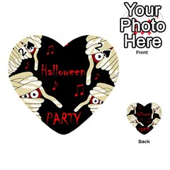 Halloween mummy party Playing Cards 54 (Heart)