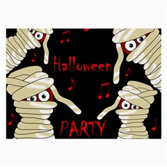 Halloween mummy party Large Glasses Cloth (2-Side)