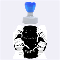 Halloween mummy party Rubber Round Stamps (Large)