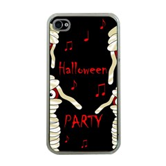 Halloween mummy party Apple iPhone 4 Case (Clear)