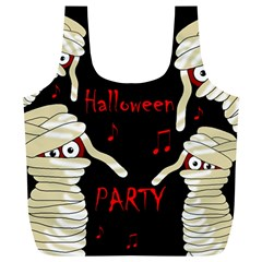 Halloween mummy party Full Print Recycle Bags (L)