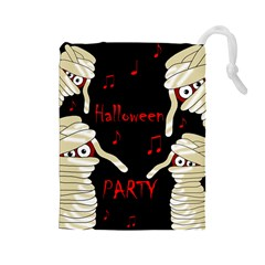 Halloween mummy party Drawstring Pouches (Large)