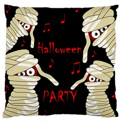 Halloween mummy party Large Flano Cushion Case (Two Sides)