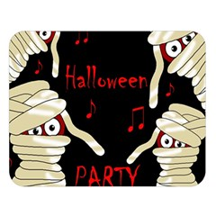 Halloween mummy party Double Sided Flano Blanket (Large)