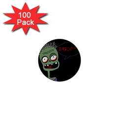 Halloween zombie 1  Mini Buttons (100 pack)