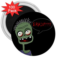 Halloween zombie 3  Magnets (100 pack)