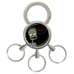 Halloween zombie 3-Ring Key Chains