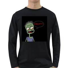 Halloween zombie Long Sleeve Dark T-Shirts