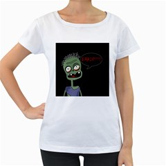 Halloween zombie Women s Loose-Fit T-Shirt (White)