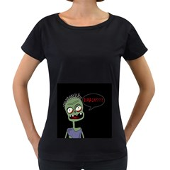 Halloween zombie Women s Loose-Fit T-Shirt (Black)