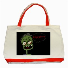 Halloween zombie Classic Tote Bag (Red)