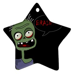 Halloween zombie Star Ornament (Two Sides)