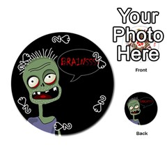 Halloween zombie Playing Cards 54 (Round)