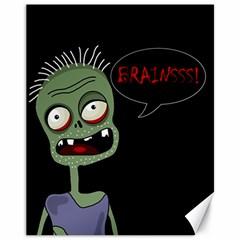 Halloween zombie Canvas 11  x 14