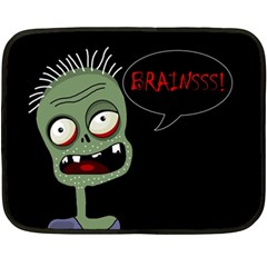 Halloween zombie Double Sided Fleece Blanket (Mini)