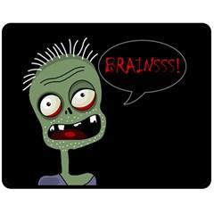 Halloween zombie Fleece Blanket (Medium)