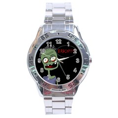 Halloween zombie Stainless Steel Analogue Watch