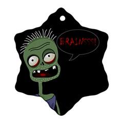 Halloween zombie Snowflake Ornament (2-Side)