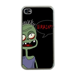 Halloween zombie Apple iPhone 4 Case (Clear)