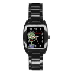 Halloween zombie Stainless Steel Barrel Watch