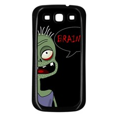 Halloween zombie Samsung Galaxy S3 Back Case (Black)