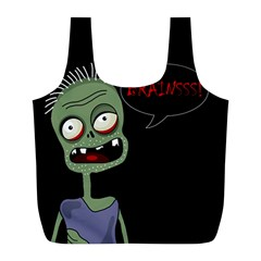 Halloween zombie Full Print Recycle Bags (L)