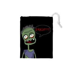 Halloween zombie Drawstring Pouches (Small)